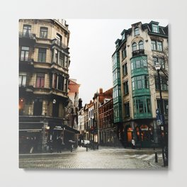 Streets of Brussels Metal Print