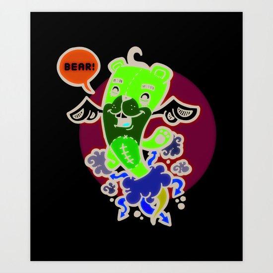Bear Teddy Art Print