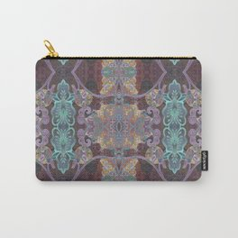 Tibetan Inspired Meditation Floral Print Carry-All Pouch