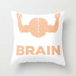 Flex Brain Muscles Smart Math Chemistry Physics Throw Pillow