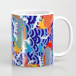 Koi fish / japanese tattoo style pattern Coffee Mug