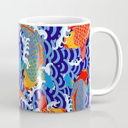 Koi fish / japanese tattoo style pattern Coffee Mug