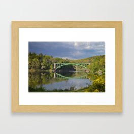 Summer Storm Clouds - Delaware River Framed Art Print