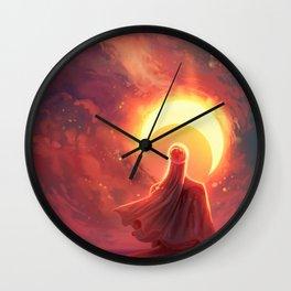 The moon of sun Wall Clock