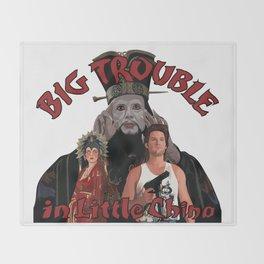 """Big Trouble"" Throw Blanket"