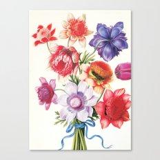 XI. Vintage Flowers Botanical Print by Pierre-Joseph Redouté - Anemones Canvas Print