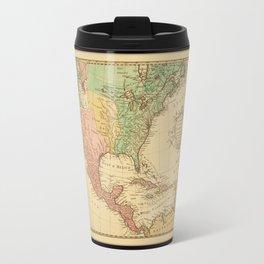 Vintage map of North America Travel Mug