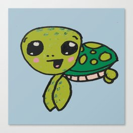 Timmy Turtle Blue Canvas Print