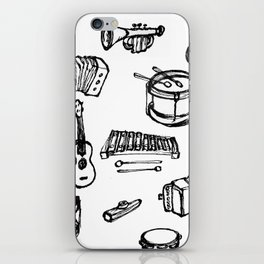 Toy Instruments, Black and White iPhone Skin
