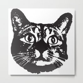 Cat Icon Metal Print