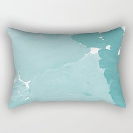 Aerin - abstract minimal painting decor for dorm college office gender neutral cool colors Rectangular Pillow