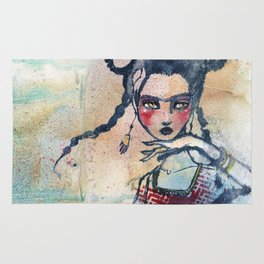 Frida is an Emotion by Jane Davenport Rug