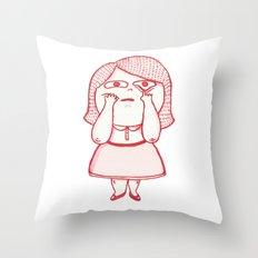Girl Feelings #1 Throw Pillow
