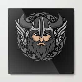 Norse mythology Odin God valhalla Viking Nordic Metal Print