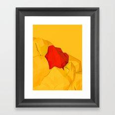 red gem of the golden mountain Framed Art Print