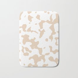 Large Spots - White and Pastel Brown Bath Mat