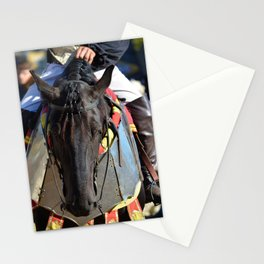 Jousting Horse - Portrait with Rider Stationery Cards