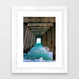 Juno Beach Ocean Pier Framed Art Print