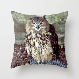 Happy Owl. Throw Pillow