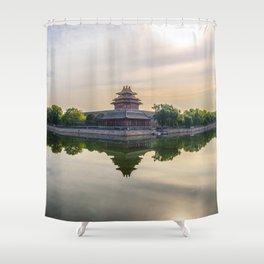 Forbidden City moat Shower Curtain