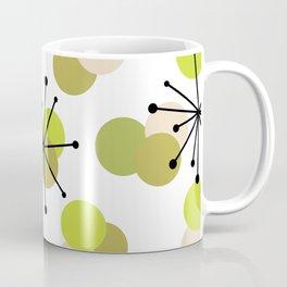 Atomic Age Molecules Starbursts Chartreuse Coffee Mug