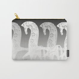 Horses in line - black and white - #society6 #buyart Carry-All Pouch