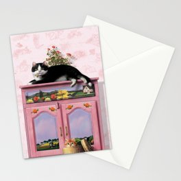 """Mosky Cat """"Flowers"""" Stationery Cards"""