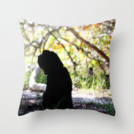 I'll be here when you return  Throw Pillow