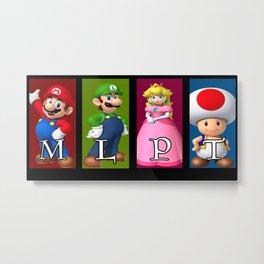 Team Mario Metal Print