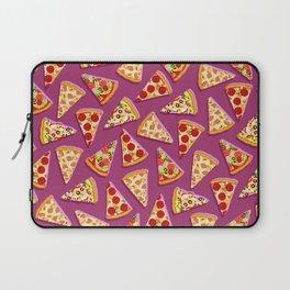 Purple cute pizza slice pattern Laptop Sleeve