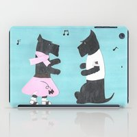 50s iPad Cases featuring Back to the 50s - Scottish Terriers by Mary Louise Simmons