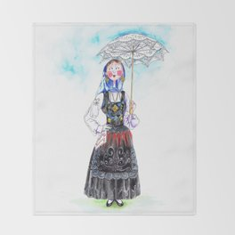 MARIA FROM DOURO-PORTUGAL Throw Blanket