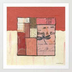 Flying Colors in Red Art Print