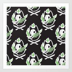 Wolf Skull Pattern Art Print