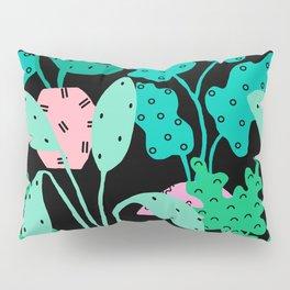 Postmodern Planters in Black Pillow Sham