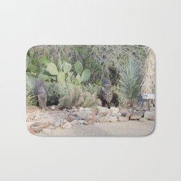 Javelina in the desert Bath Mat