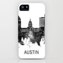 Austin Texas Skyline BW iPhone Case