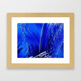 Sapphire Palm Framed Art Print