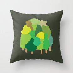 minibosque Throw Pillow