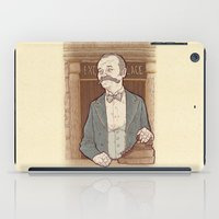 wes anderson iPad Cases featuring Monsieur Ivan or Bill Murray on The Grand Budapest Hotel from Wes Anderson by suPmön