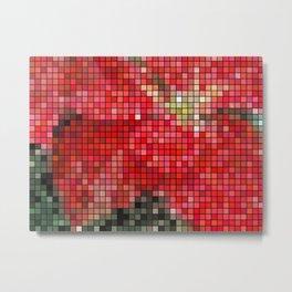 Mottled Red Poinsettia 1 Ephemeral Mosaic Metal Print