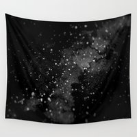 outer space Wall Tapestries featuring Outer Space by kris kang