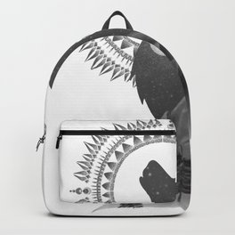 Howl at the Moon Black and White Backpack