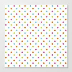 Fun Dots multi-coloured Canvas Print
