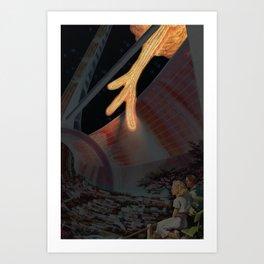 Glinting Fiery Tendrils Art Print