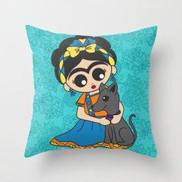 Little Dog Friend Throw Pillow