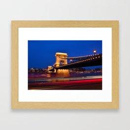 Szechenyi Chain bridge Framed Art Print