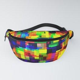 Rainbow Pixelate Glitch Fanny Pack