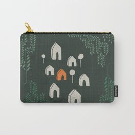 Line Vine Border Community Illustration In Green Carry-All Pouch