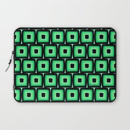 Mod Green Squares Laptop Sleeve